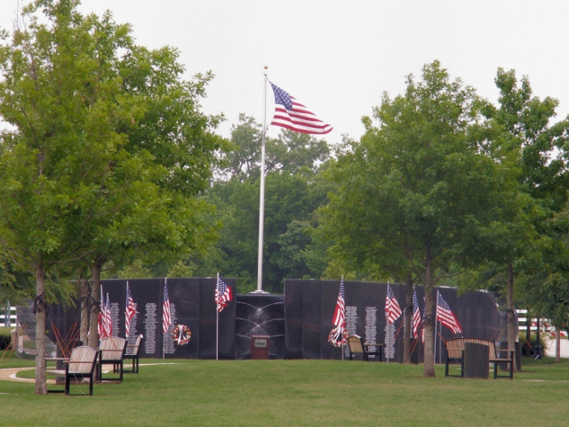 Collin county Veterans Memorial Park in McKinney